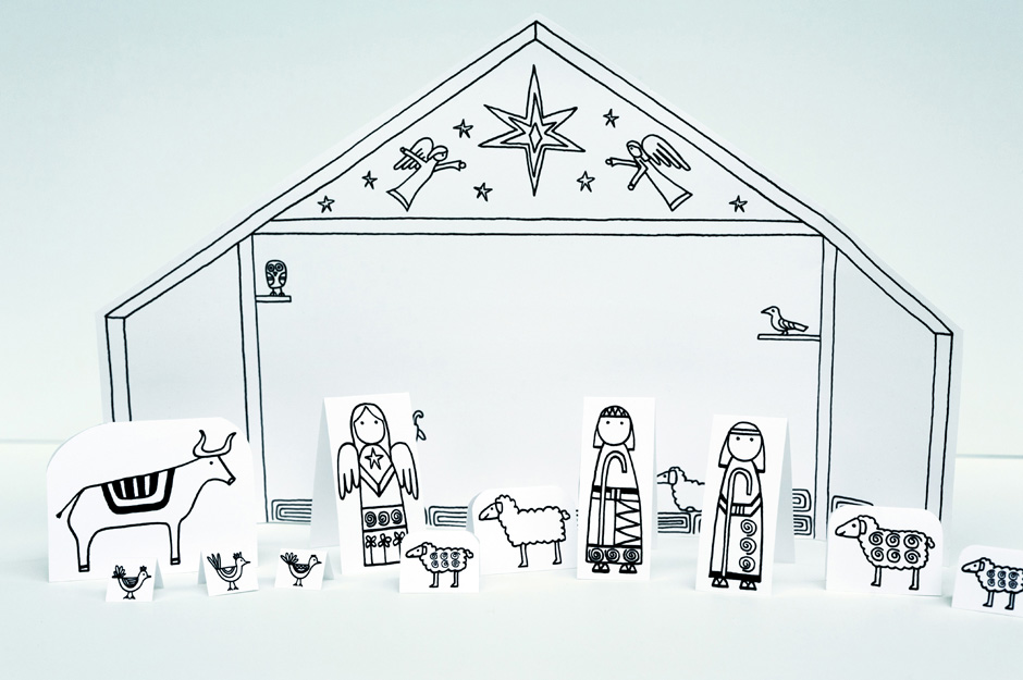 Modest image with regard to printable nativity scene