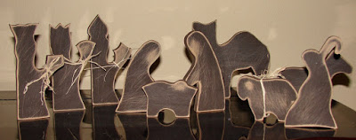 Wooden Nativity Silhouettes