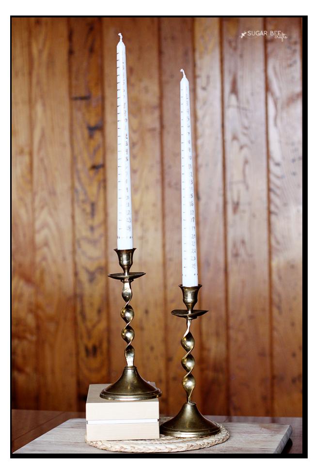 candle advent calendar idea