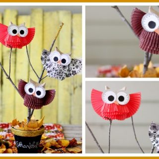 Fall centerpiece craft owl