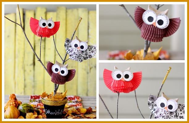 Cute Owl Centerpiece Display Sugar Bee Crafts