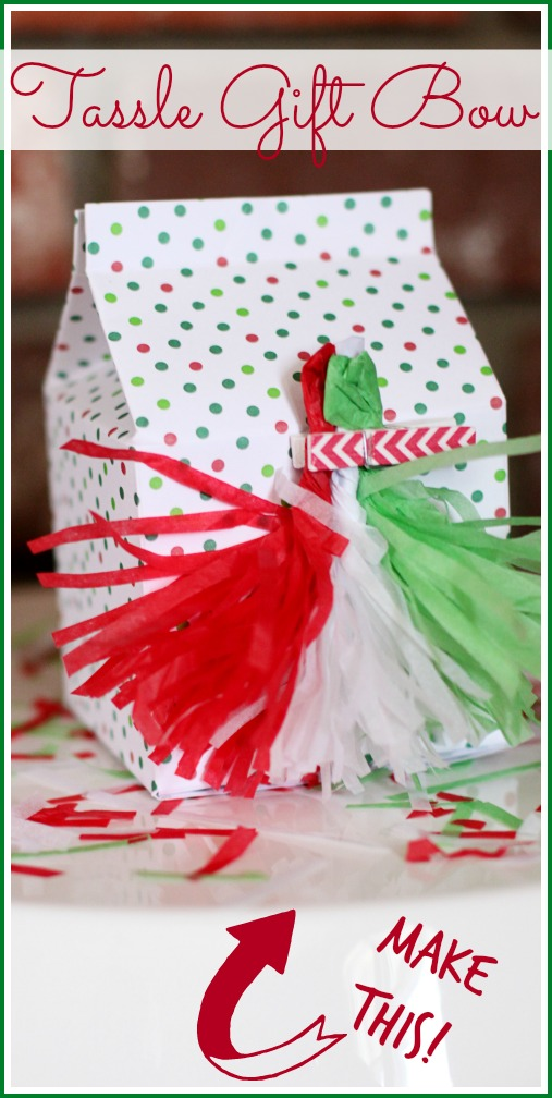 make a tassle gift bow
