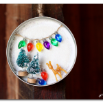 mason jar lid winter scene