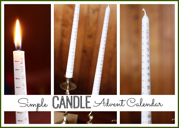 simple candle advent calendar
