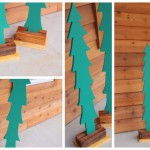 tree cut out porch decor