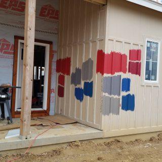 Building Beyeler Hollow: exterior paint