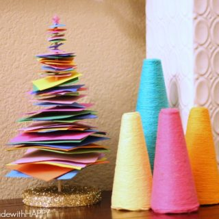 Colorful foam christmas tree 4