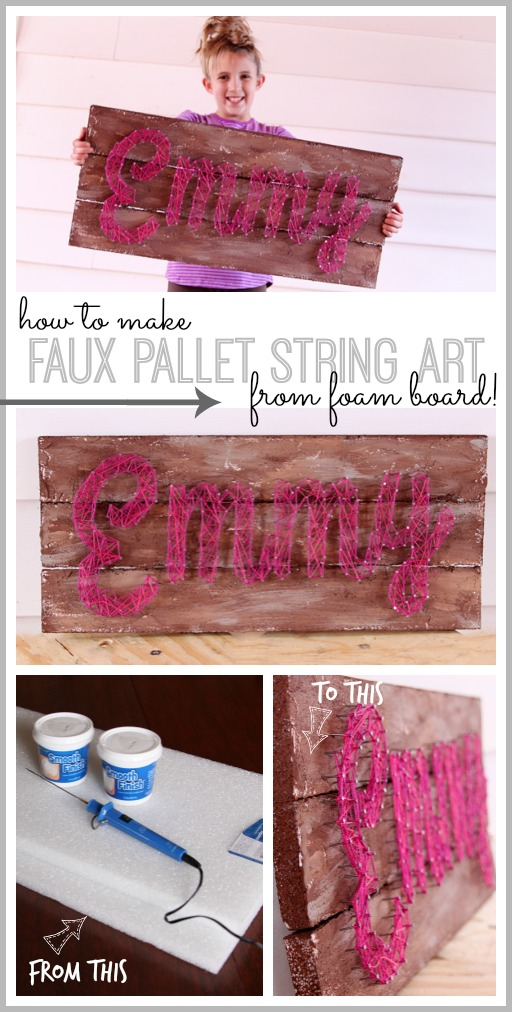 faux pallet string art