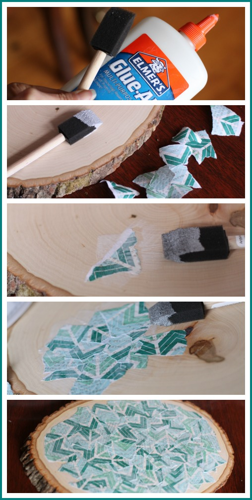 how to decoupage with elmer's glue