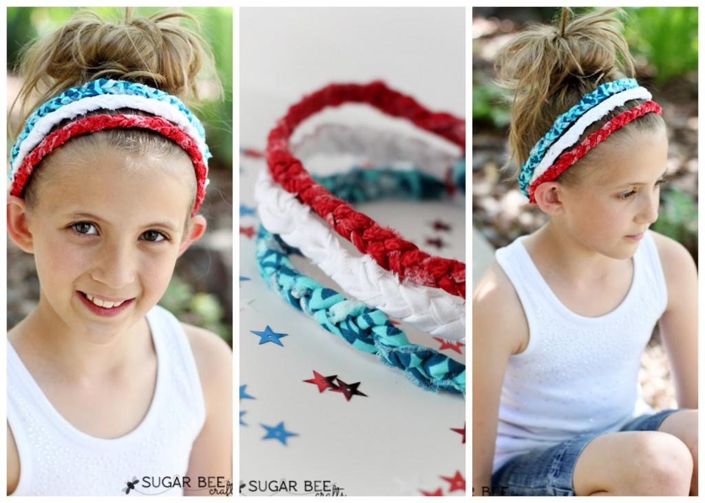 how to make a patriotic braided headband