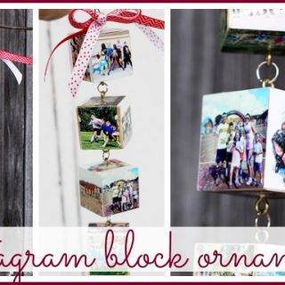 instagram block ornament