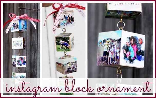 instagram block ornament