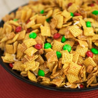 Ooey gooey holiday chex treat 3