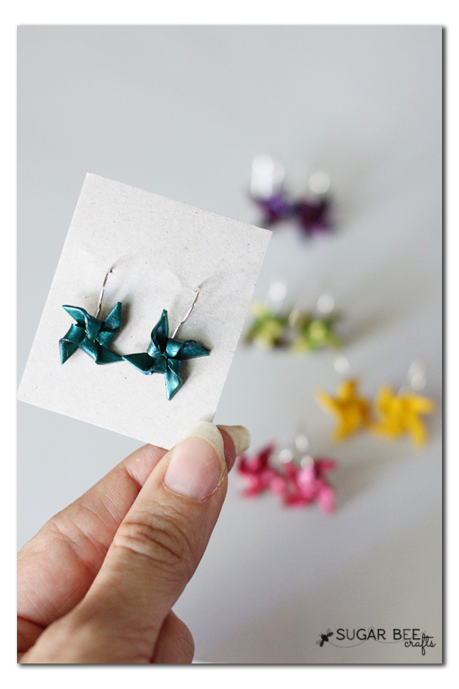pinwheel clay sculpey primo earrings gift