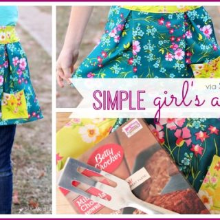 simple girl's apron