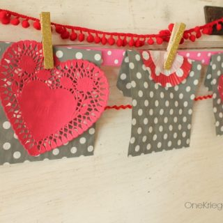 15 minute valentines garland and countdown with a twist onekriegerchick