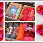 Crocheted Hearts and Yarn Organization
