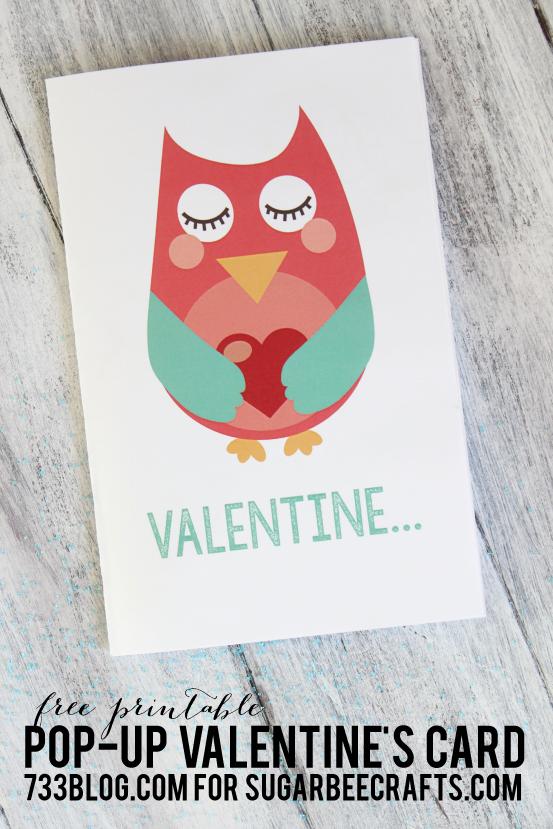 Owl Valentine Pop-Up Printable Card