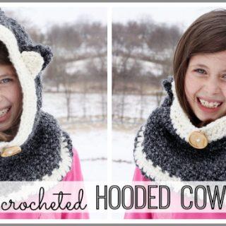 Crochet hooded cowl easy