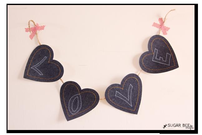denim heart banner
