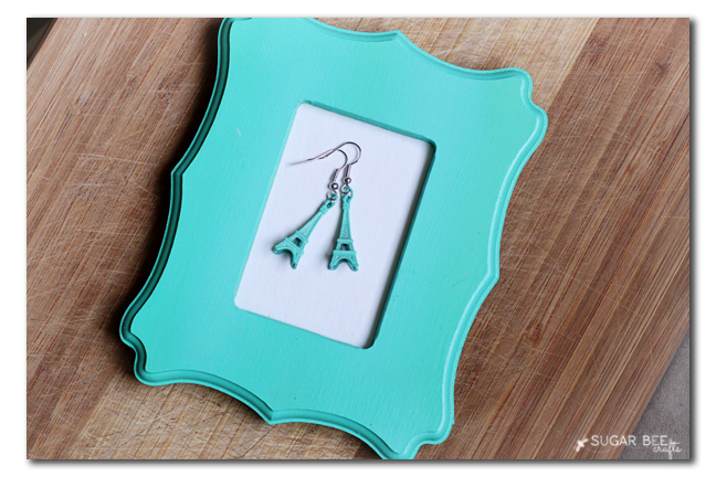 make your own eiffel tower earrings