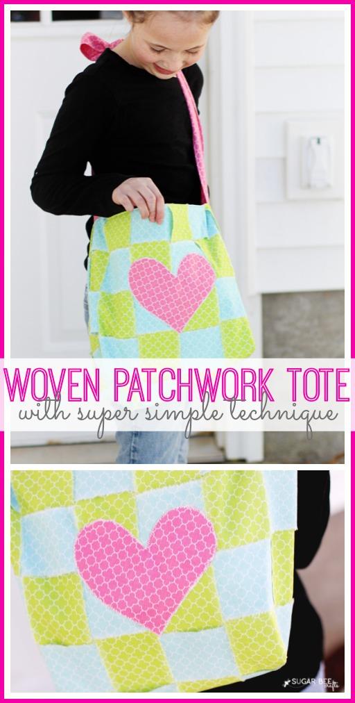 woven patchwork tote technique