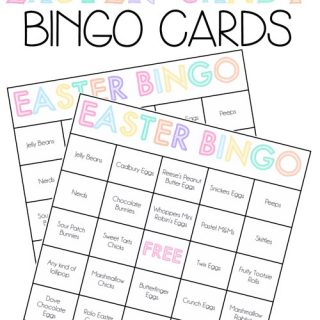 Easter candy bingo cards