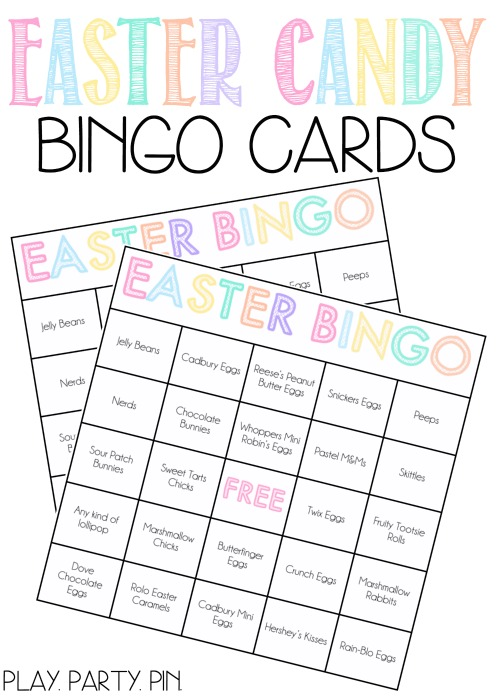 photograph relating to Free Printable Easter Bingo Cards named Easter Sweet Bingo Match