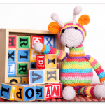 crochet giraffe colorful