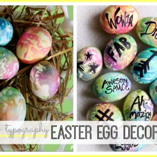 Easter egg decorating modern idea