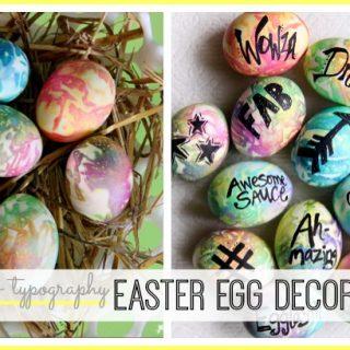 Easter egg decorating modern idea
