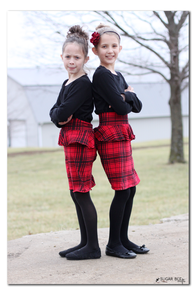 girls knit peplum skirt diy