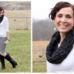 gray crochet cowl