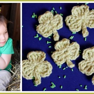make crochet shamrocks