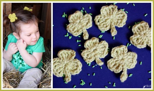 make crochet shamrocks