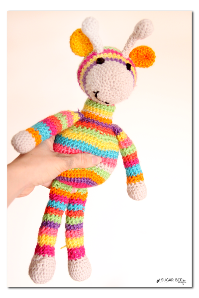 stuffed crochet giraffe
