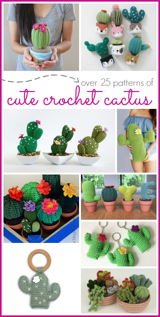 Crochet cactus ideas and patterns