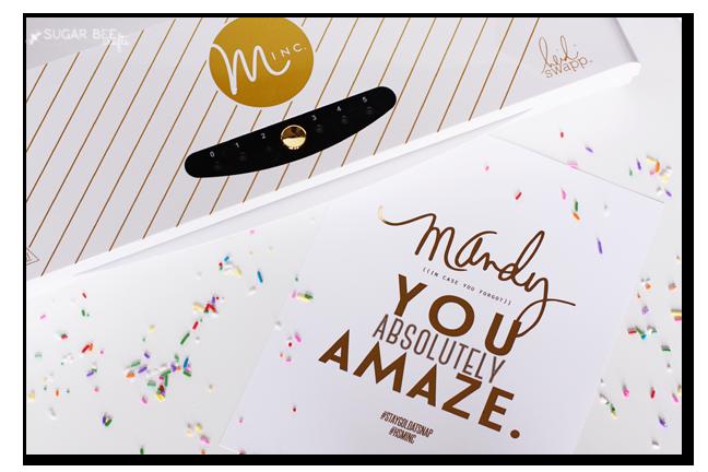 minc personalized gold foil