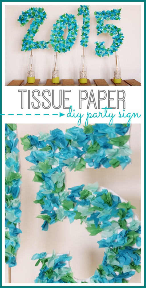 Tissue Paper Party Sign Sugar Bee Crafts