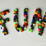 FUN Pom Pom Letters- quick and easy...make today for Summer decor! OneKriegerChick.com