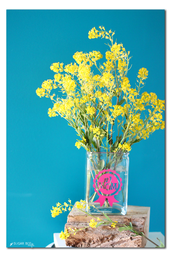 Cut Your Own Vinyl Sticker Vase Gift Idea