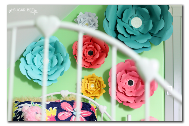 Wall Flowers Decor big bloom paper flower wall decor - sugar bee crafts