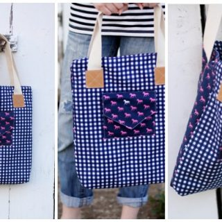 envelope pocket derby tote