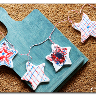 kids craft plastic star garland