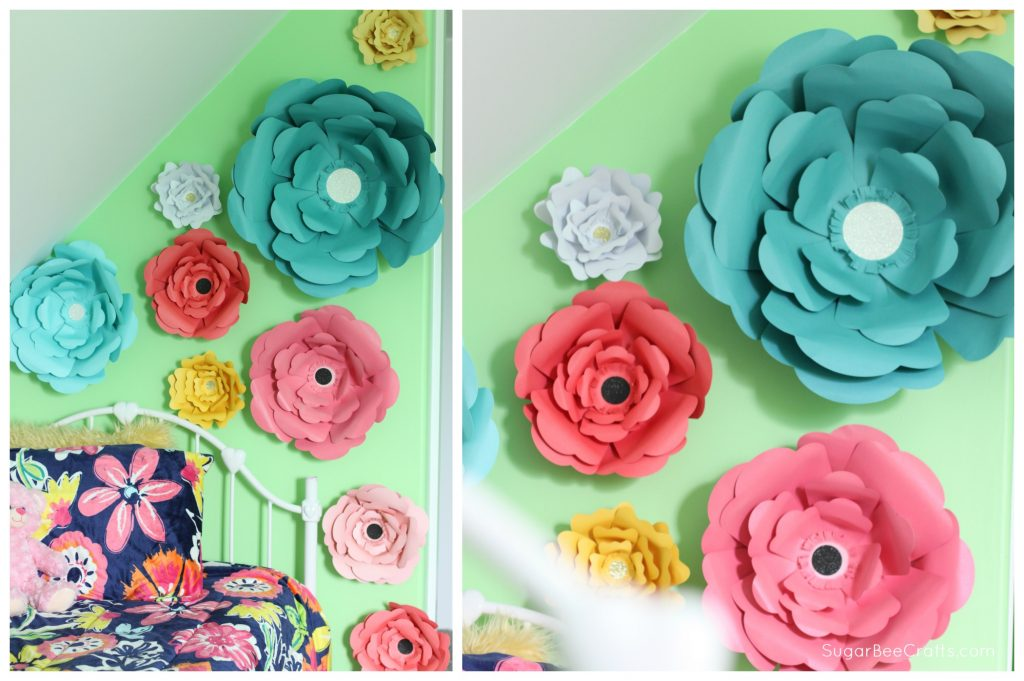 Big bloom paper flower wall decor sugar bee crafts large paper flowers mightylinksfo
