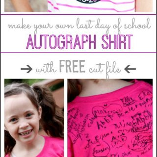 Last day of school autograph shirt silhouette