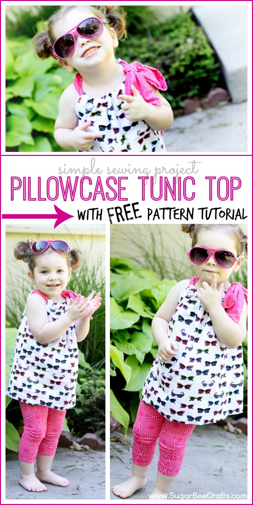 pillowcase tunic top free pattern tutorial