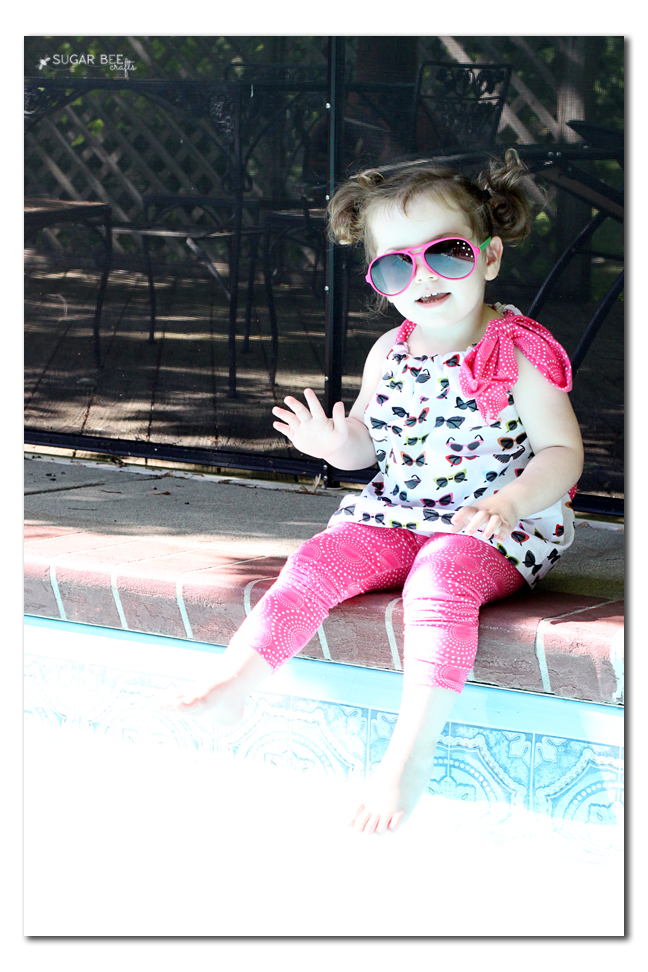 poolside kids tunic top