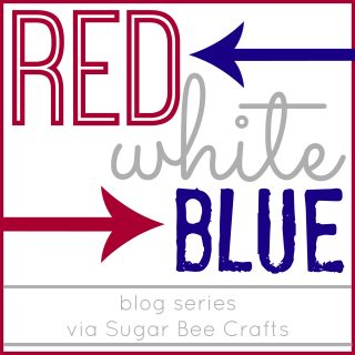 red white blue series button