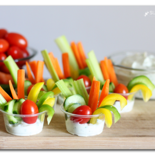vegetable dip cups single serve